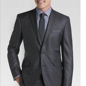 Kenneth Cole reaction suit, grey glen plaid